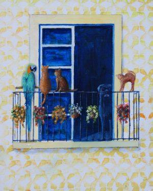 Balconies - Guardian. Oil/Canvas 24x30cm 70€