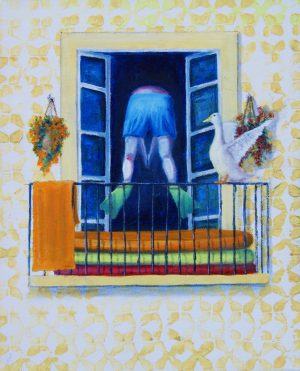 Balconies - its hot. Oil/Canvas 24x30cm 70€